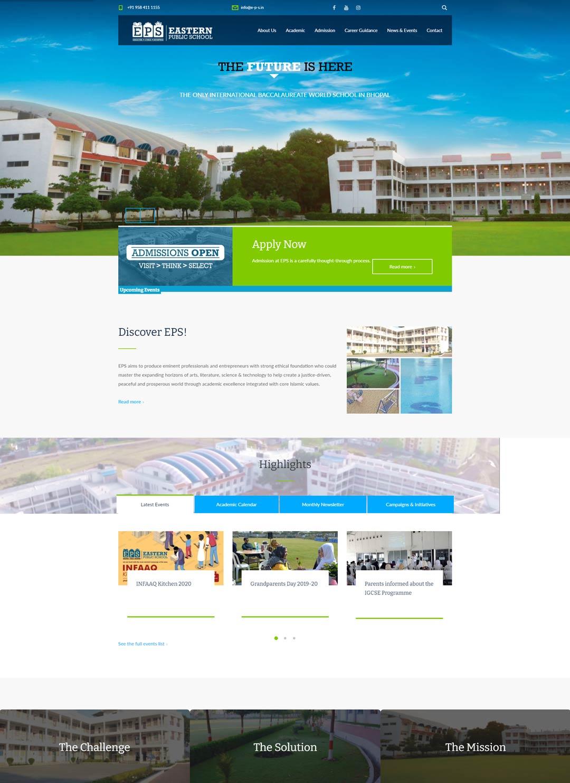 EPS - School Website Design